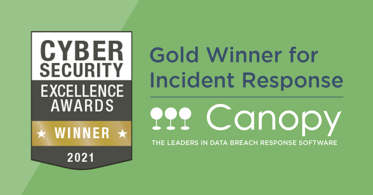 Canopy is a Gold Winner (Incident Response) in 2021's Cybersecurity Excellence Awards