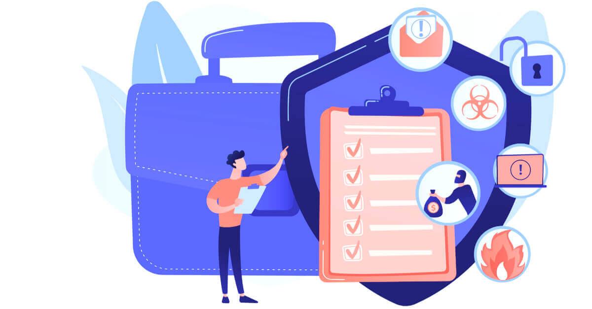 Data breach response team checking off tasks on checklist