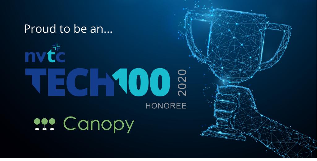 Canopy is a NVTC Tech 100 2020 blue trophy