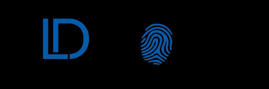 KLDiscovery logo with fingerprint
